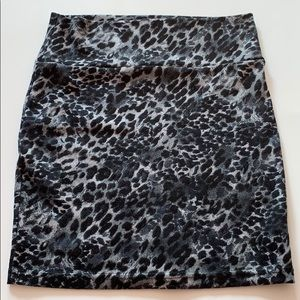 Animal Print Skirt Stretch sz Small S